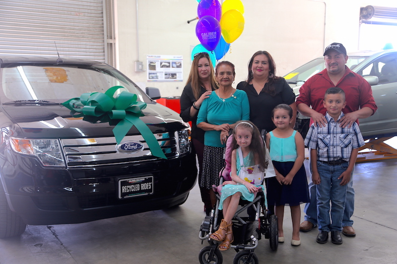 LLU Children's hospital patient family gets transportation relief as recipients of a Recycled Ride
