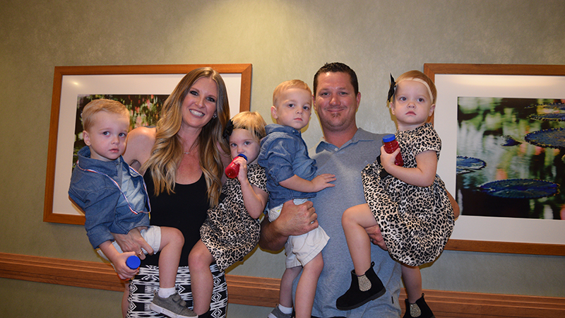 Quadruplets and their parents return to Loma Linda University Children's Hospital