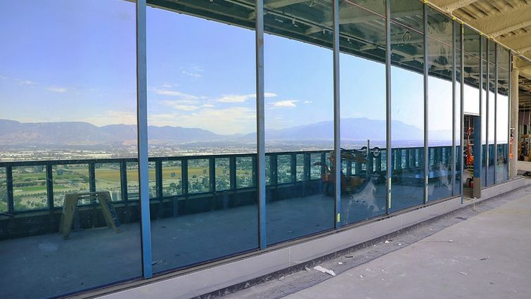 Conference Center glass walls