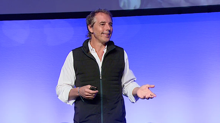 Dan Buettner presents about the five Blue Zones at the Healthy People In Healthy Communities Conference