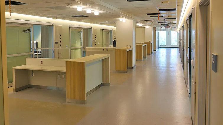 Interior views of future Medical Center