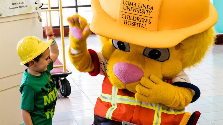 Children's Hospital mascot celebrates birthday in
