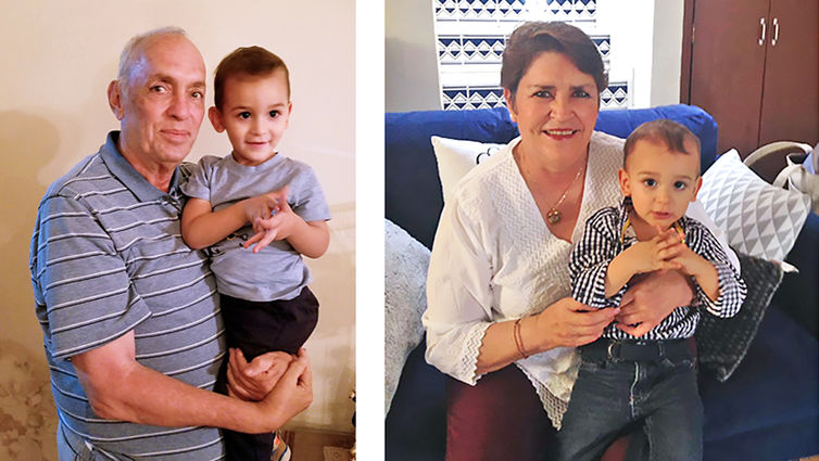 Angelica Rincon Carrillo, right, not only lived to see her daughter grow up but is now also a happy grandmother to grandson Juan Eduardo. Angelica's brother Pepe, also pictured with Juan Eduardo, donated one of his kidneys to Angelica.