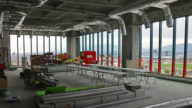 Board room on the top of the new Adult Hospital