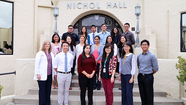 Group photo of students in Loma Linda University's clinical laboratory science program class of 2018