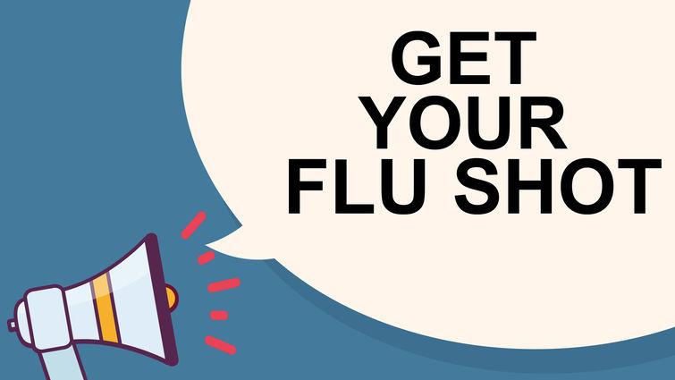 speakerphone says get your flu shot