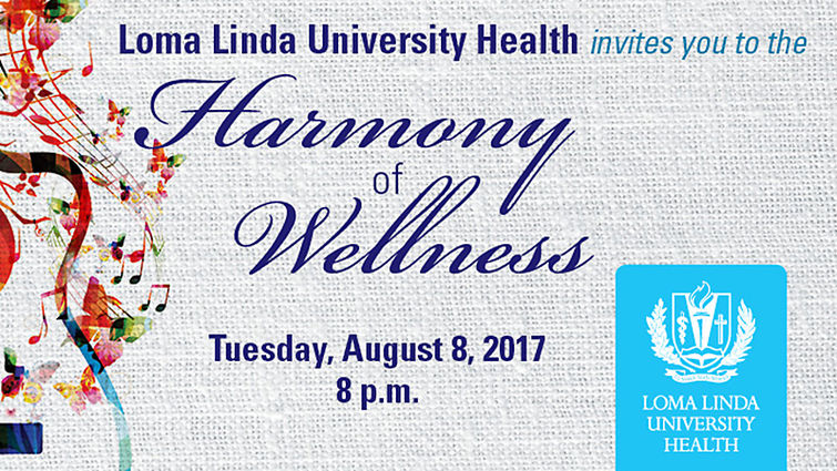 Digital poster for Harmony of Wellness event