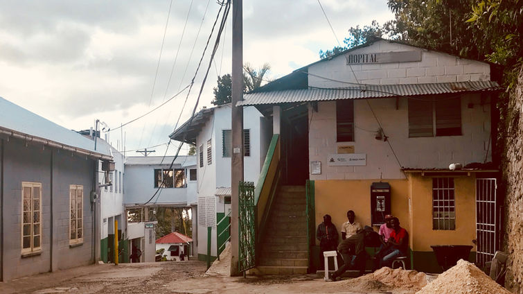 One of the hospitals in Haiti, where LLU School of Nursing researchers traveled to conduct their recently published research.