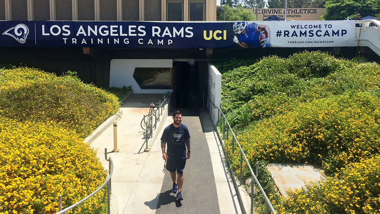 LLU School of Public student tackled a dream assignment with the Los Angeles Rams.