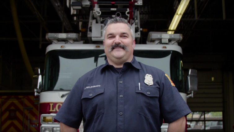 Josh Maldonado, an engineer for Loma Linda Fire Department, was recognized with the Hometown Hero Award