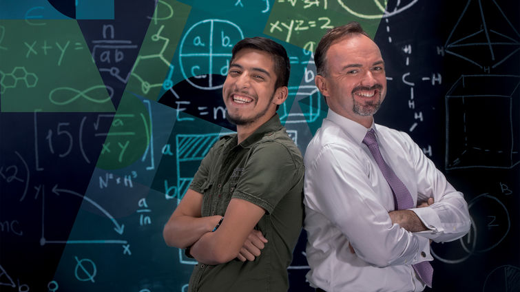 Patient Juan Garcia (left) and Gregory Aaen, MD, say multiple sclerosis affects children and teens as well as adults.