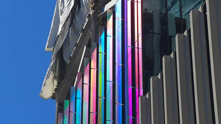 Children's Hospital colored glass exterior