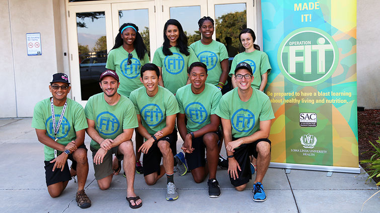 Group photos of volunteers at Operation Fit