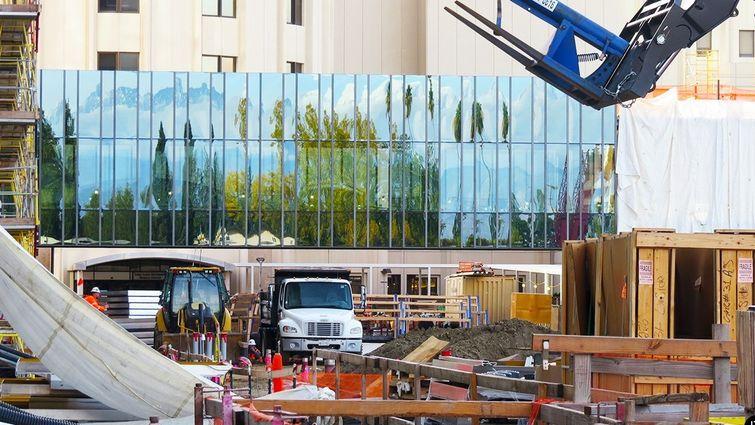 Schuman Pavilion bridge glass covering