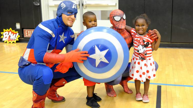 In addition to games and activities, pediatric patients enjoyed meet-and-greets with real live superheroes.