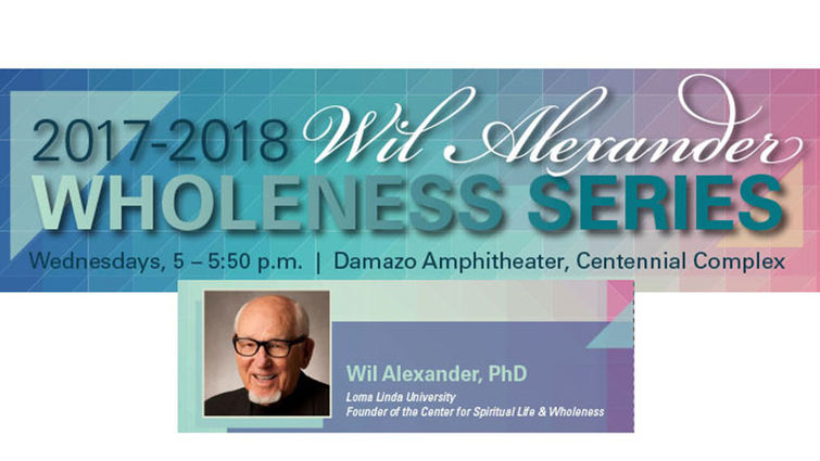Digital flyer for the Wil Alexander Wholeness Series