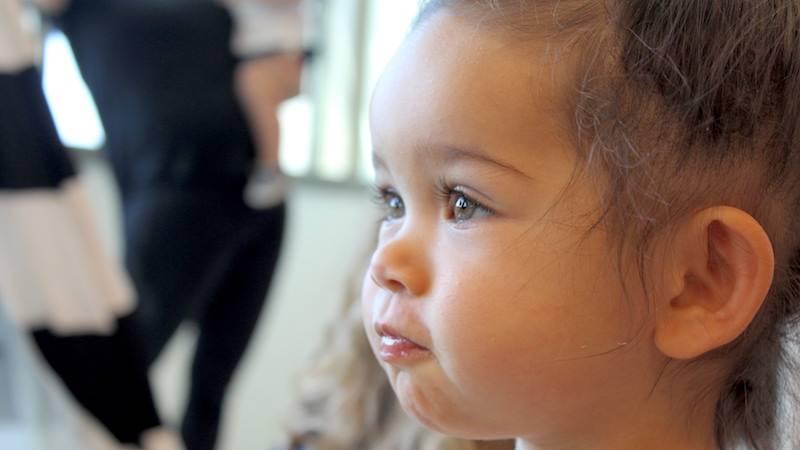 Photo of child's head