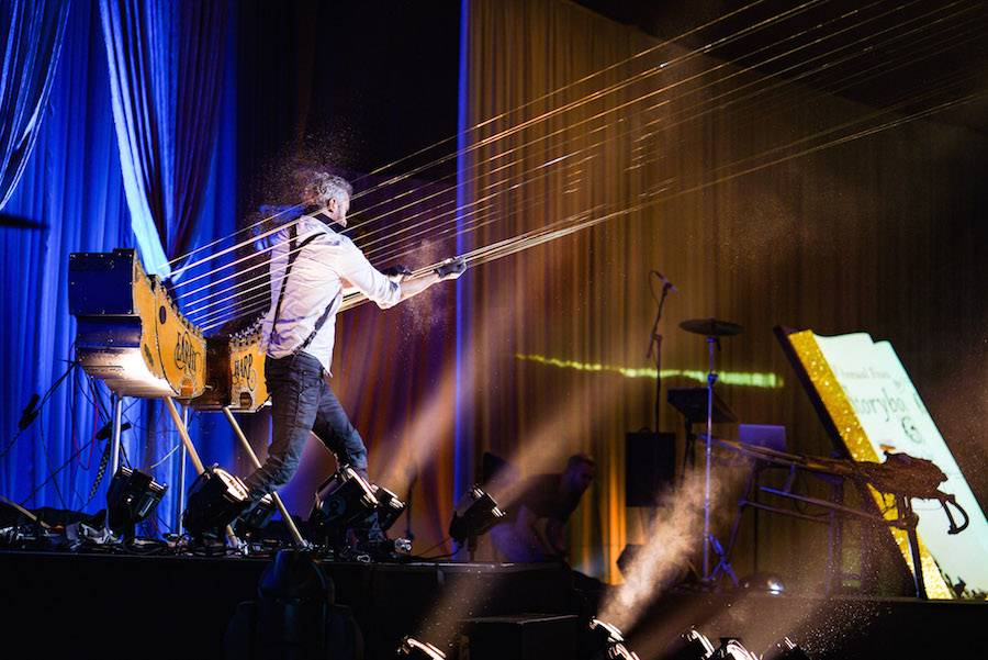 William Close and the Earth Harp Collective provided entertainment during the event.