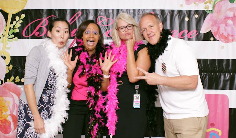 LLUCH clinical staff also had some photobooth fun.