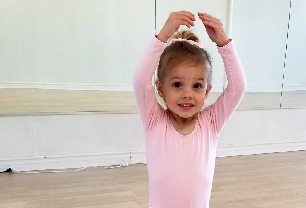 Vivian as a ballerina