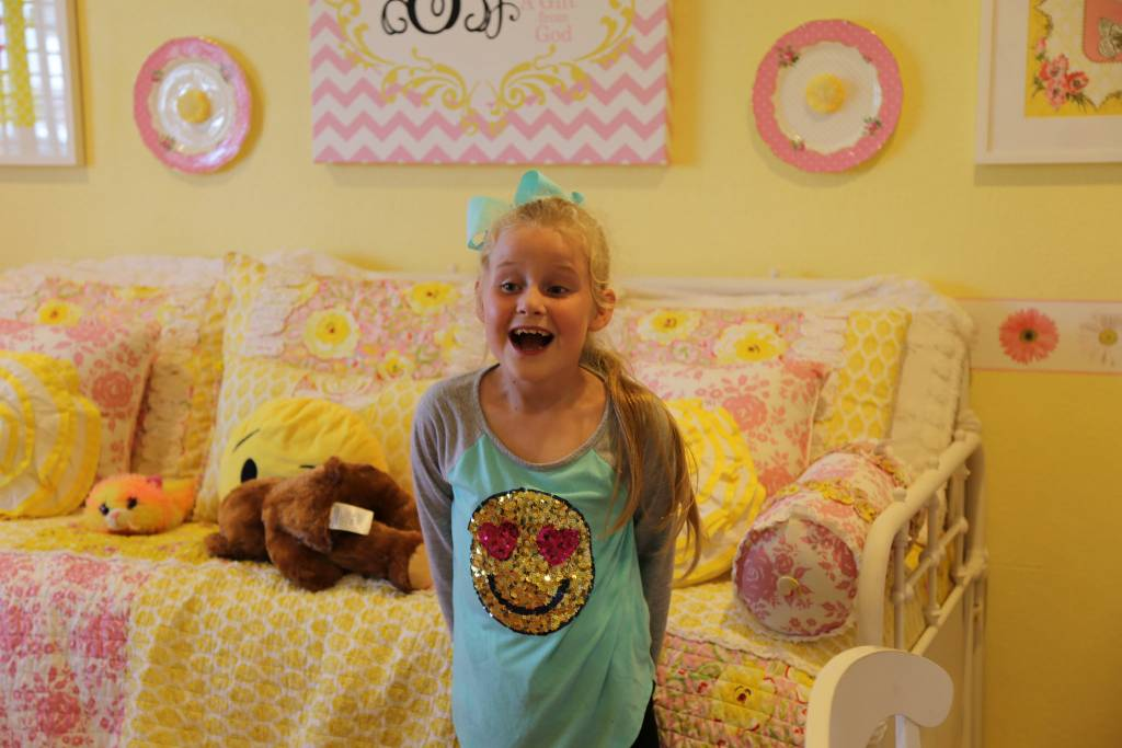 Sophia, 8, is an animated and creative little girl.