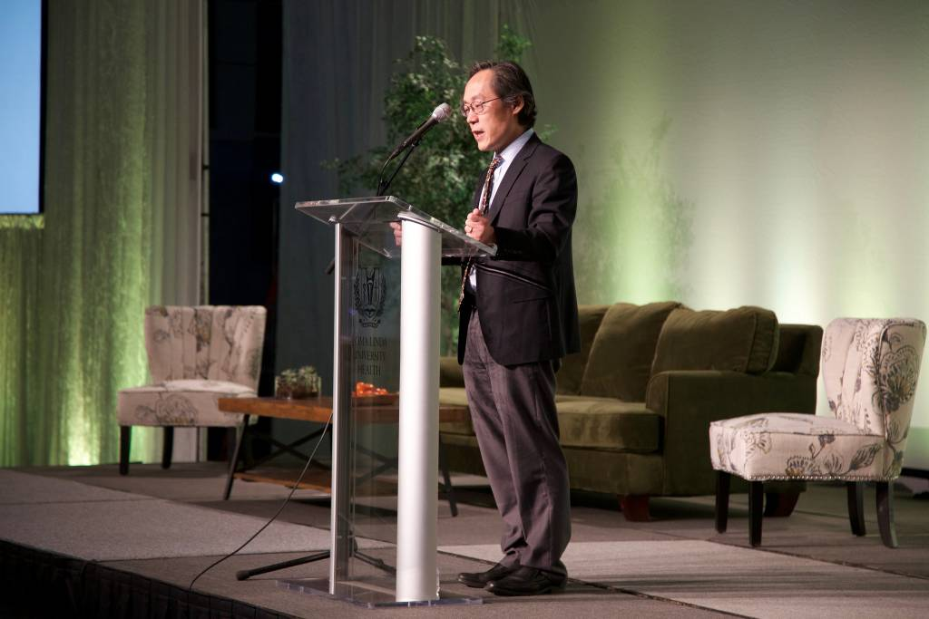 Frank B. Hu, MD, PhD, chair, Department of Nutrition, professor of nutrition and epidemiology at Harvard T.H. Chan School of Public Health, was the opening keynote speaker.