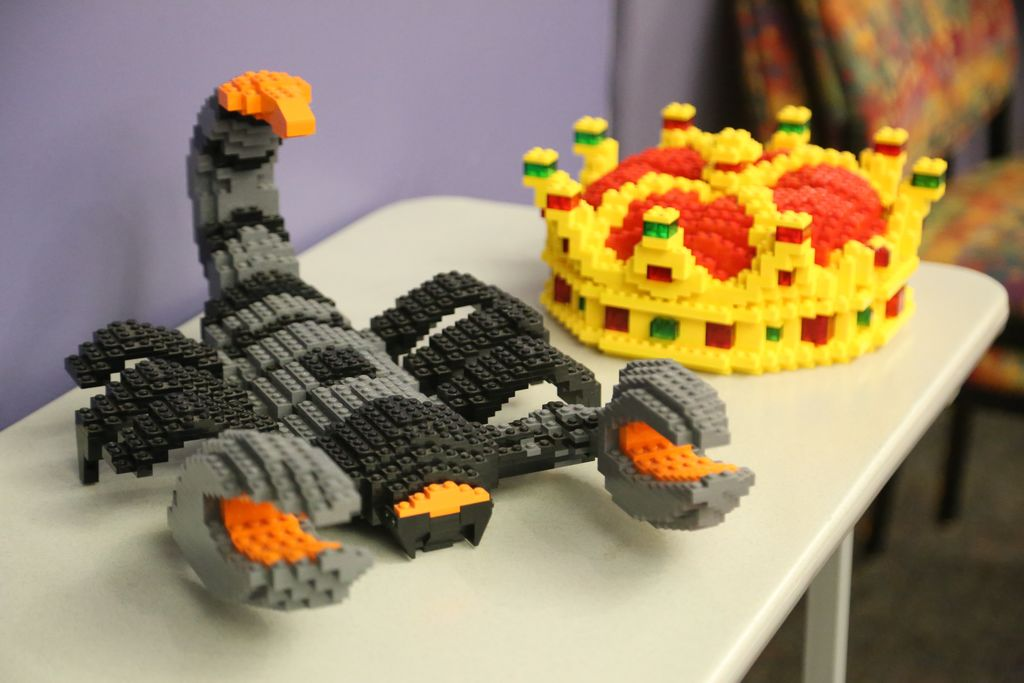 Lego scorpion and lego crown