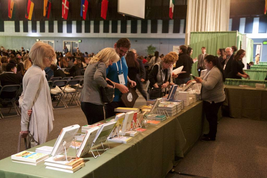 Attendees had the opportunity to shop from a variety of health and wellness books during the conference.