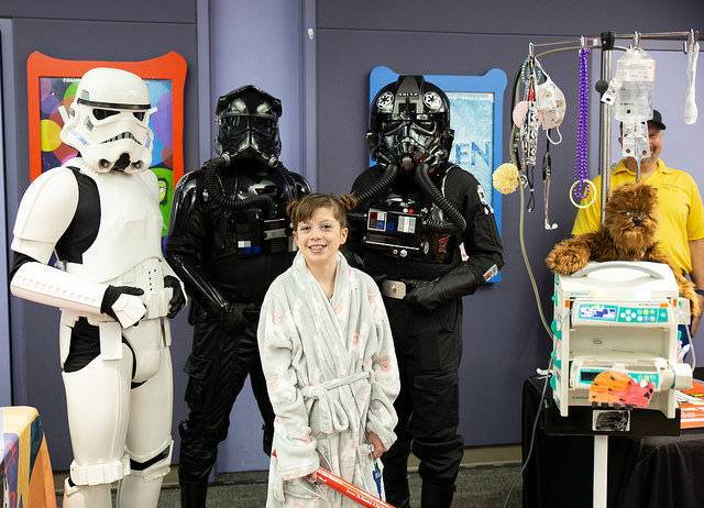 Patient with Star Wars characters