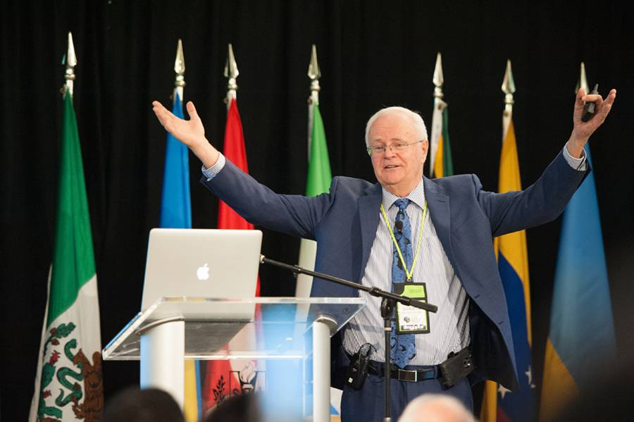 Lowell Cooper, former board chair for Loma Linda University Health, shares leadership and governance information as part of the Global Healthcare Conference.