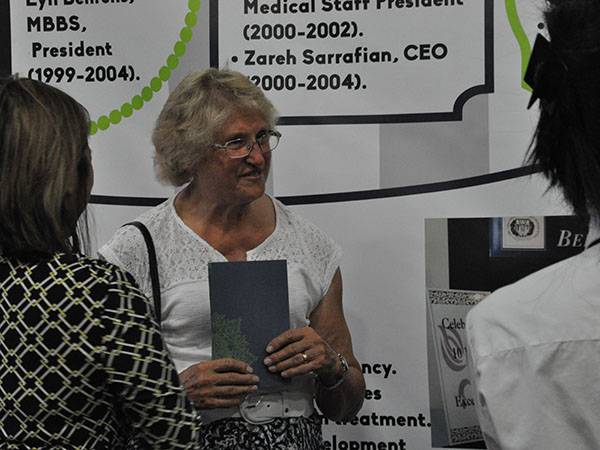 Lyn Behrens meets with old friends