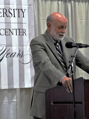 Dr. Richard Hart addresses the gathering