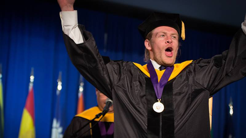 Pure joy during the commencement for Schools of Behavioral Health and Religion