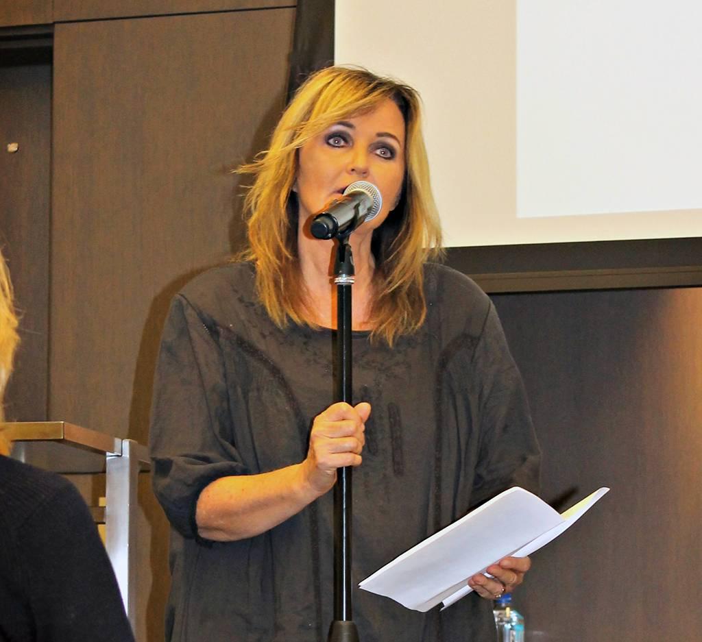 Carla Lidner Baum, DDS, MA, speaks at the 2016 Nobel Peace Prize Forum.