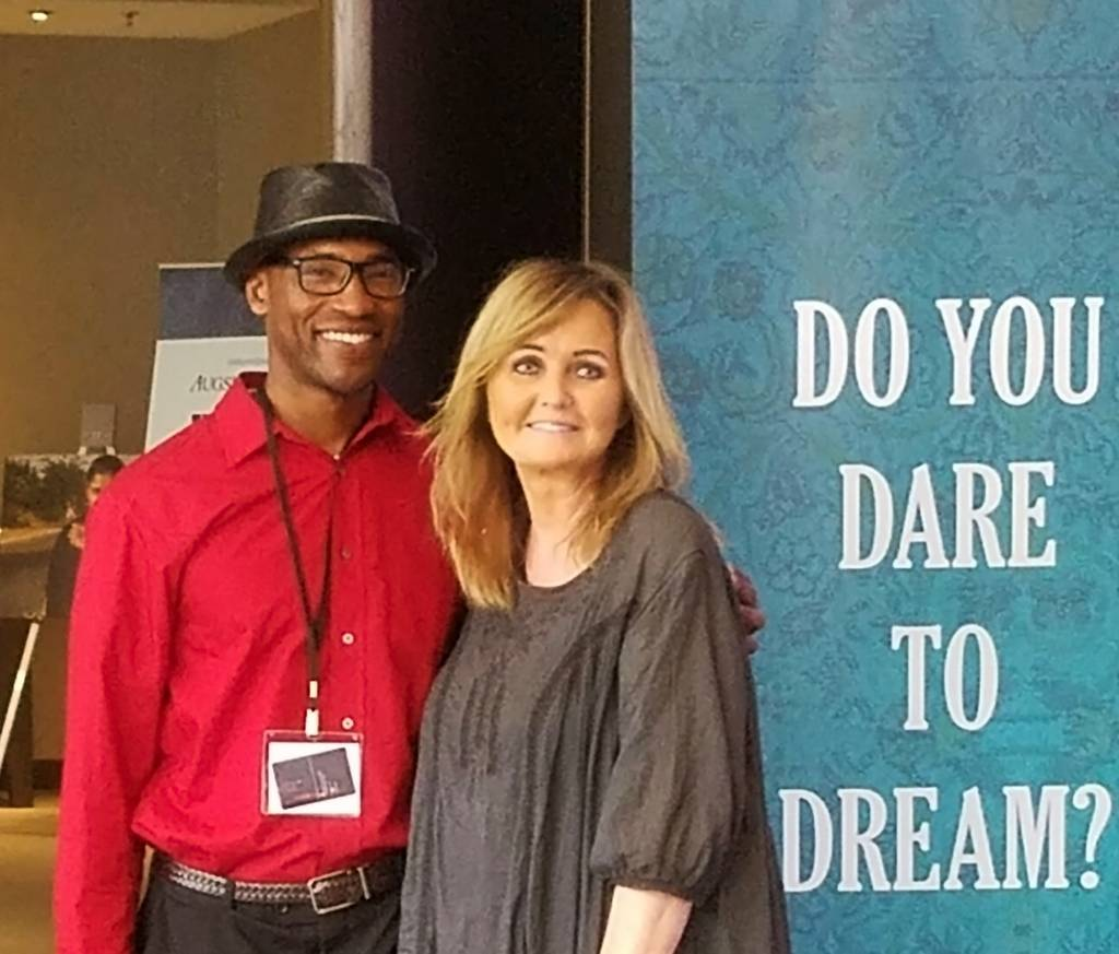 Carla Lidner Baum, DDS, MA, and Rocky Ajoku at the 2016 Nobel Peace Prize Forum.