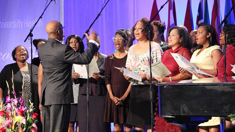 During Loma Linda University Health Homecoming, the Black Alumni Chorale, under the direction of Drs. Craig Jackson and Alan Woodson, provided music for both the morning service at the Drayson Center and the Focus on Black Alumni program.