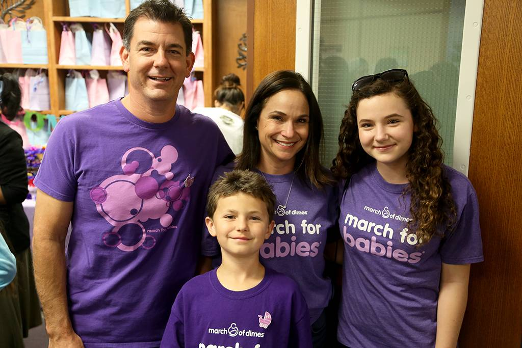 The Fitzgerald Family, who lost their first-born child to prematurity, are big supporters of the March of Dimes. (From left): Jeremy, Shane, Erin, and Sienna.