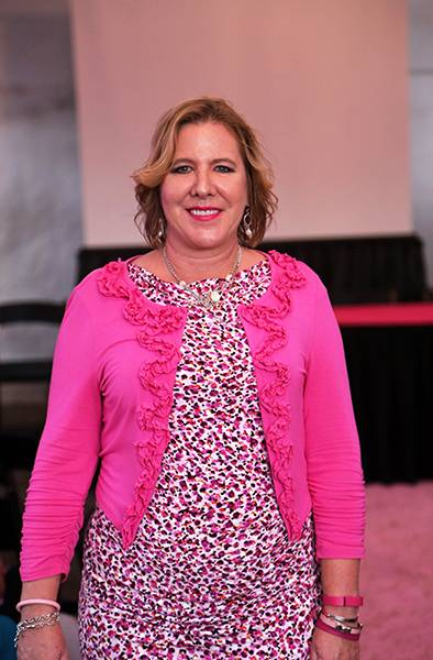 Sheri Scott selected hot pink for maximum impact on the Pink Runway.