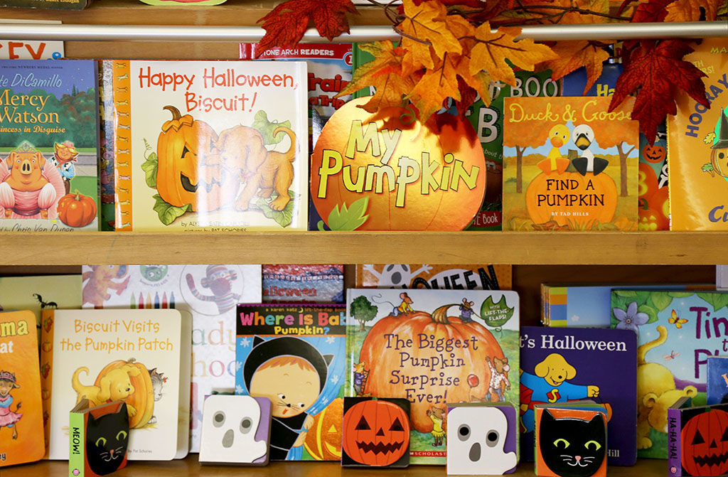 Each participant in Fall into Reading gets to keep a seasonal book