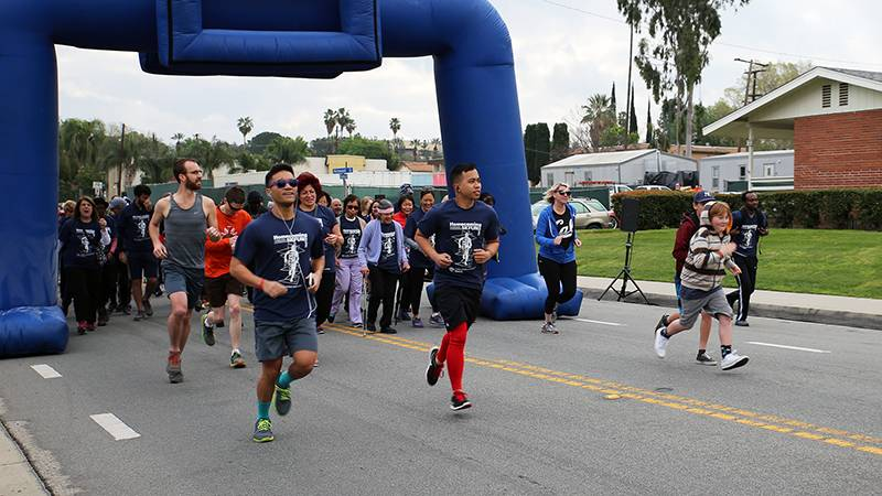 Energy was high at the start of the 2017 Homecoming 5K Fun Run/Walk.