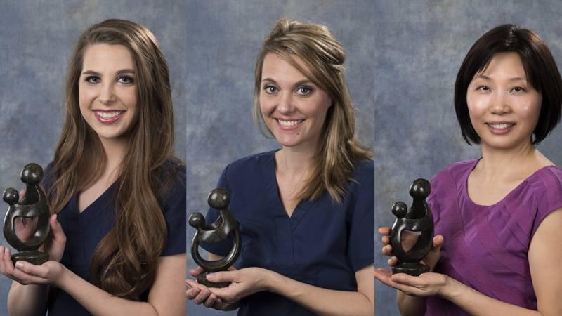 DAISY Award winners Heather Blaine, Sarah Gregory, and Joanna Yang