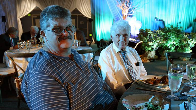 William Daniel's son, William Daniel, was recognized the same evening for 30 years of service to Loma Linda University Health.