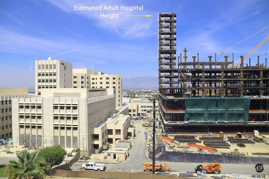 Using photoshop, here's one concept of how tall the new Adult tower will rise compared to the current Medical Center.