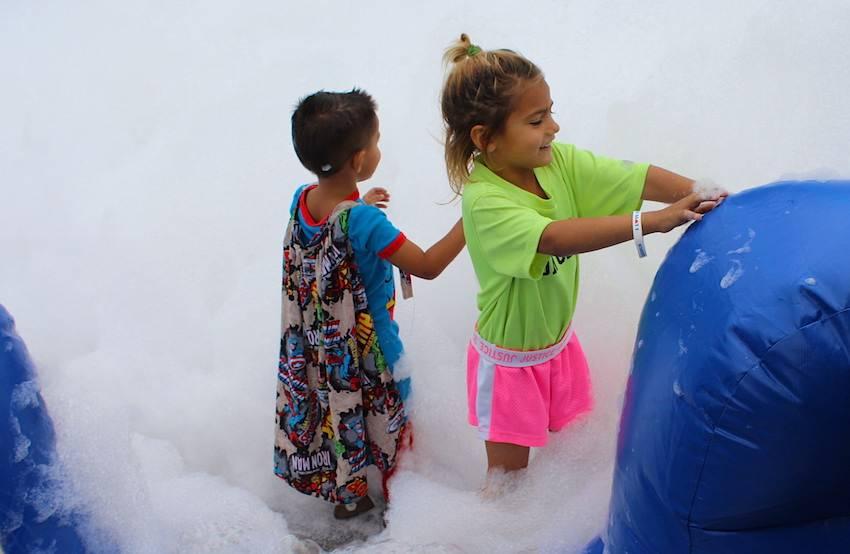 More foam pit fun in the kid zone.