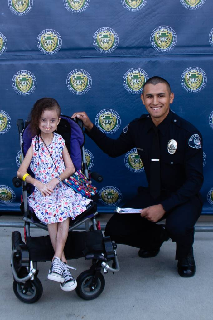 LLU Children's Hospital patients paired with San Bernardino County Sheriff's Department members to shop for school supplies, healthcare products and clothes.