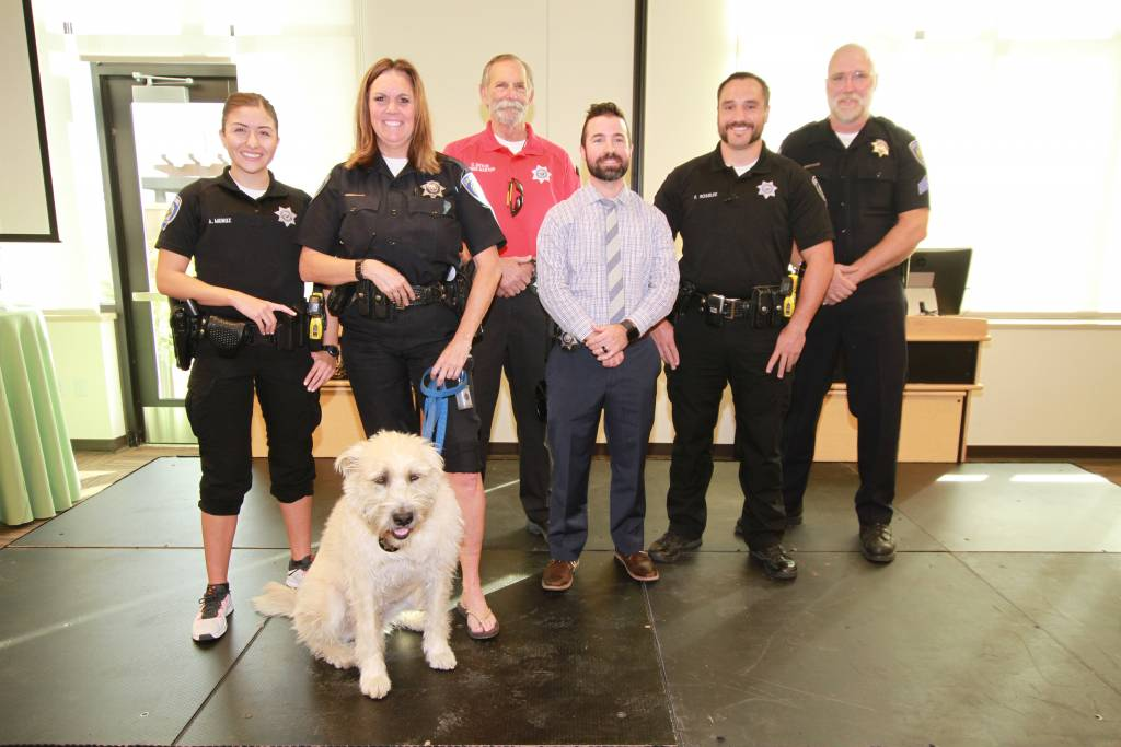 six people and canine who participated in No Shave November