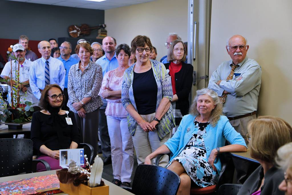 Colleagues and friends gathered for a retirement reception held for Carlene Drake, MSLS, director of university libraries at Loma Linda University.
