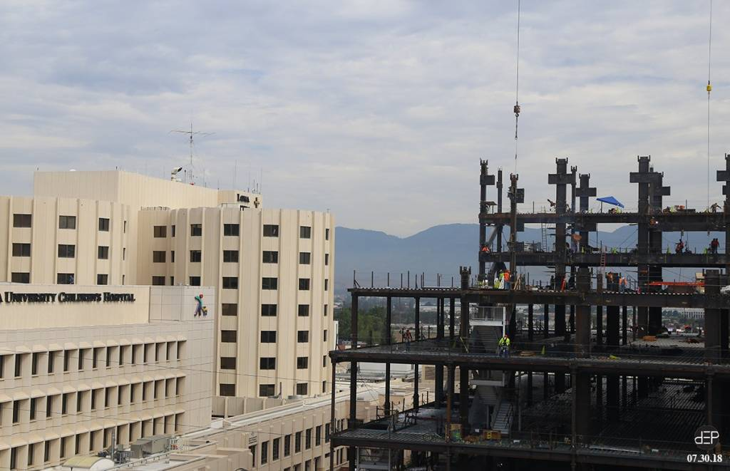 Work continues on the new Loma Linda University Medical Center.