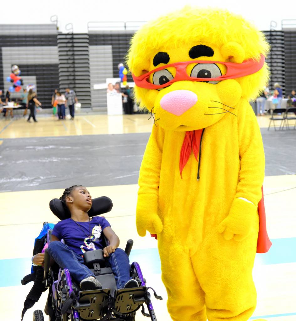 Patients were treated to an afternoon of fun and games at the 5th annual Super Kids Event at Grand Terrace High School