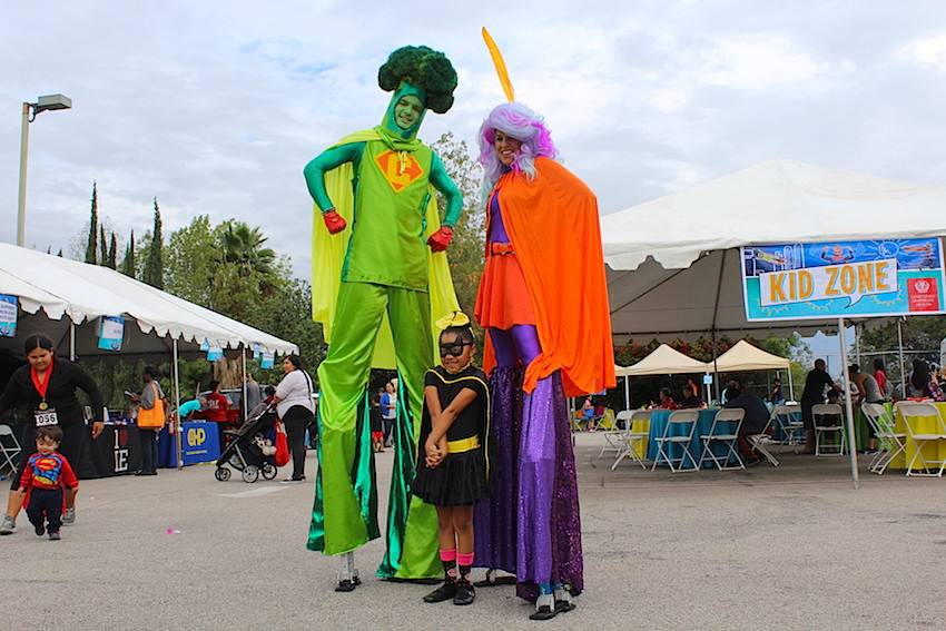 Vegetables came to life at this year's Family Health Fair kid zone.